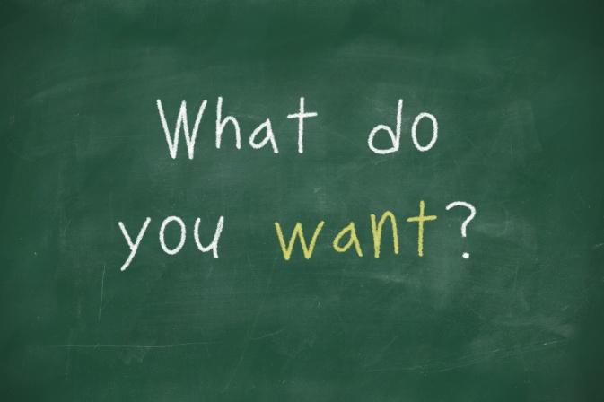 What do you want handwritten on blackboard